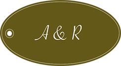 表面:2人のイニシャル (例)A&R